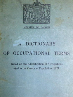 A Dictionary of Occupational Terms